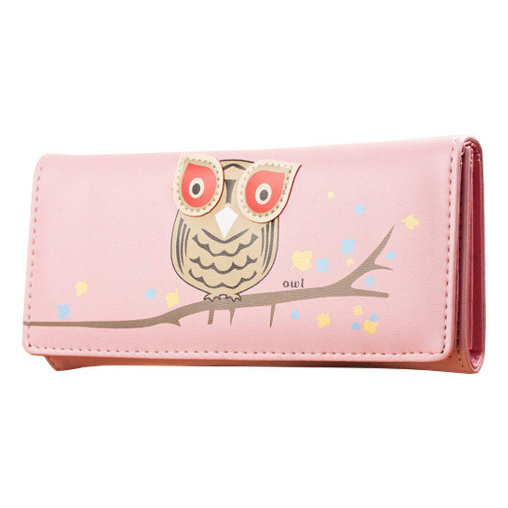 Pop Owl Wallet Cartoon Cute Lady Wallet Coin Purse (375945804) photo