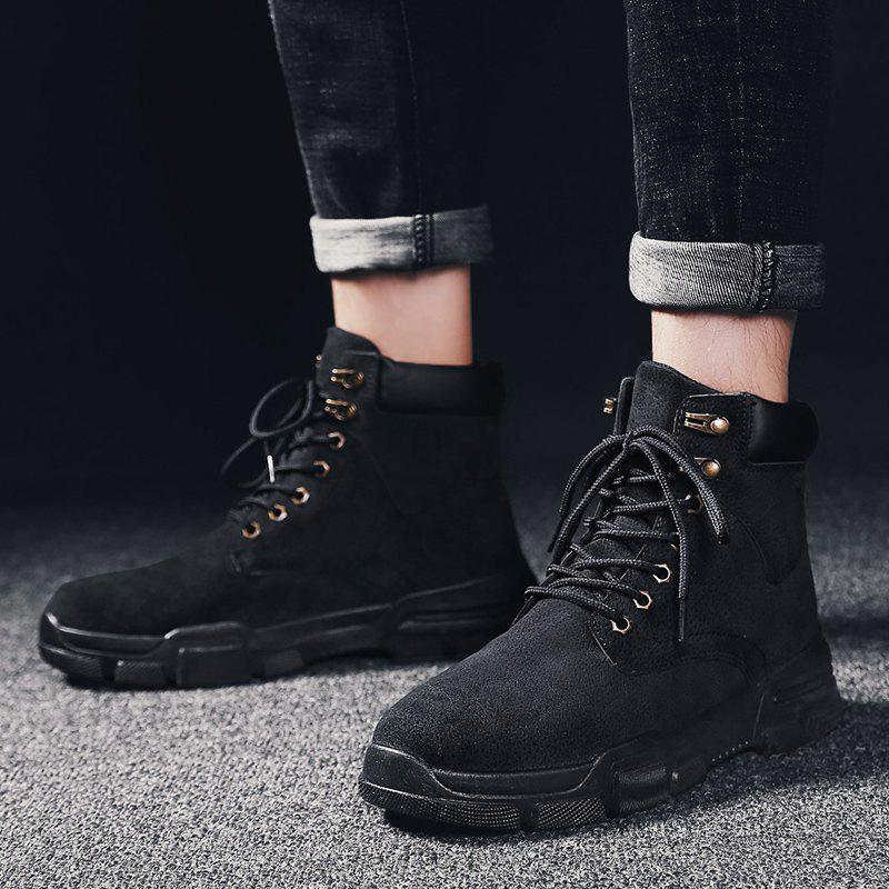 71f70588f1c Outfits autumn and Winter Men S Men S Shoes Trend Casual High-Top Shoes  Men S Sh