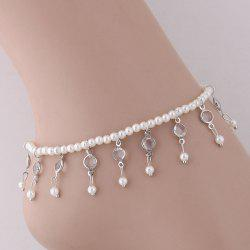 European Style Fashion Simple Drop Beads Tassel Anklet -