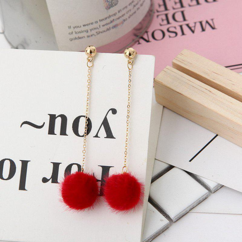 Affordable European Style Fashion Simple Plush Ball Earrings