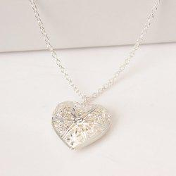 Fashion Hollow Heart Shaped Photo Box Necklace -