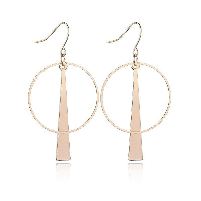 Outfit European Style Vintage Fashion Simple Geometric Circle Long Earrings