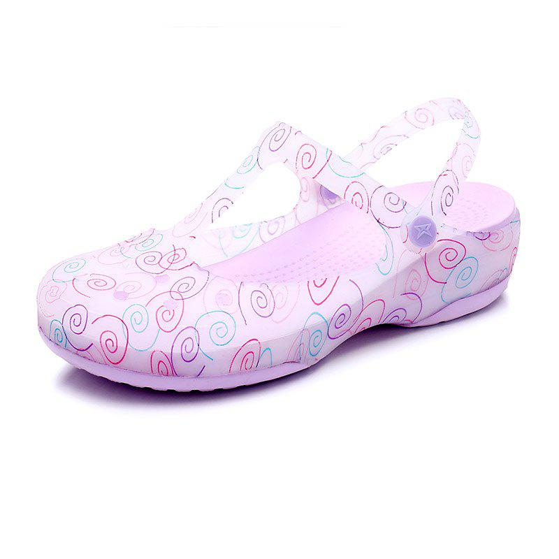 Trendy Cool Slippers Female Color Holes Shoes