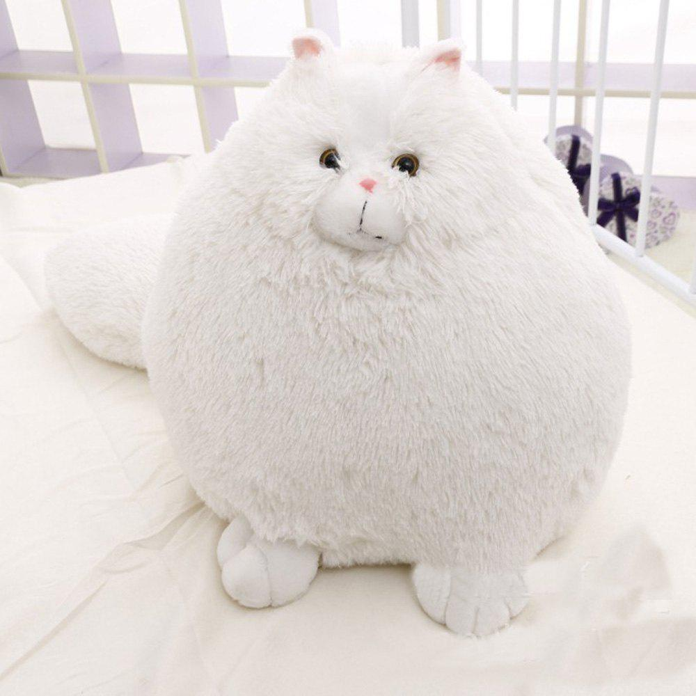 2019 Fat Cat Stuffed Animal Fluffy White Cat Soft Adorable Huge Cat