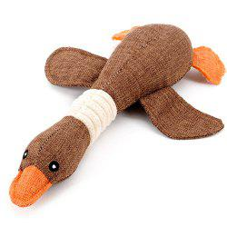 Dog Squeaky Toy Chewable Bite Sound Stuffed Wild Goose Pillow Puppy Pet Plush -