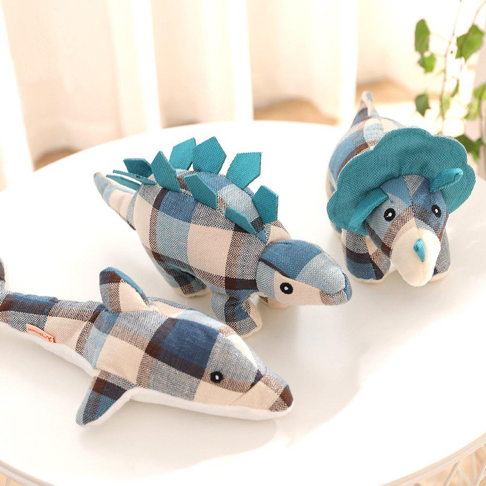 Buy Dog Squeaky Toy Stuffed Dinosaur Dolphin Pillow Puppy Chewalbel Bite Sound Toy