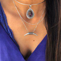 Multilayer Statement Purple Crystal Pendant Necklaces for Women -
