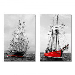 DYC 2PCS Photography of Sailing Ships Print Art -