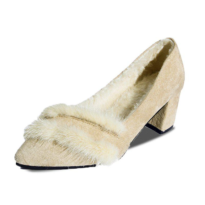 Best Pointed Hairy Highheeled Single Shoes