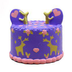 Squishy Purple Elk Cake Toy -
