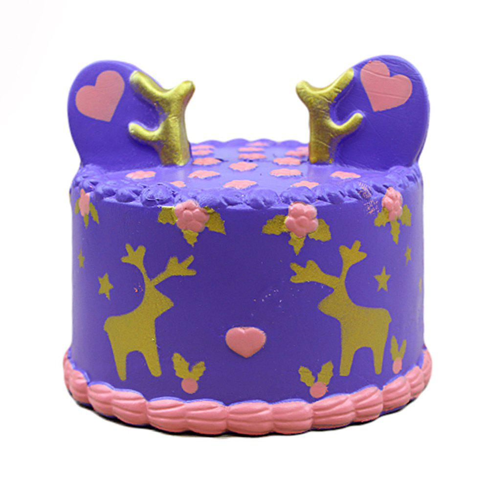 Squishy Purple Elk Cake Toy