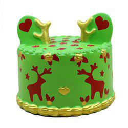 Squishy Green Elk Cake Toy -