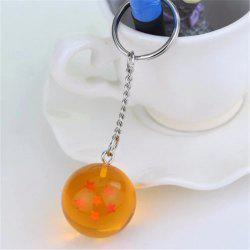 Keychain 3D Crystal Ball Key Chain Toy Gift Key Ring(6 Star)6 -