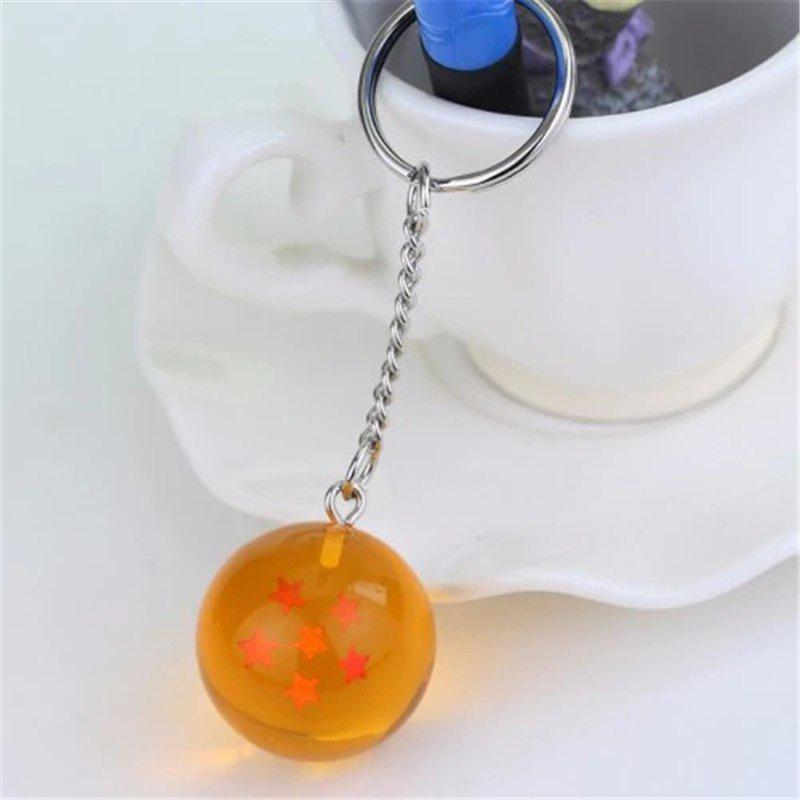 Store Keychain 3D Crystal Ball Key Chain Toy Gift Key Ring(6 Star)6