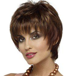 Stylish Intellectuali Lady Short Curly Hair High Temperature Synthetic Wig -