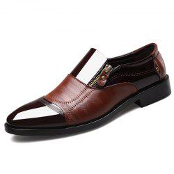 Large Size Men Pointed Business Formal Casual Bright Leather Shoes -