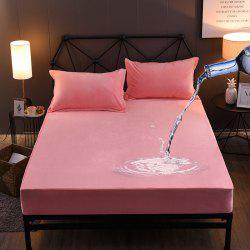 Warm Crystal Wool Water Proof Fitted Bed Sheet -