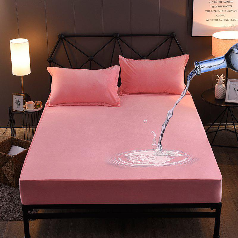 Online Warm Crystal Wool Water Proof Fitted Bed Sheet