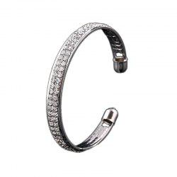 Ladies Simple Fashion 2 Rows Full of Diamond Браслет Браслет -