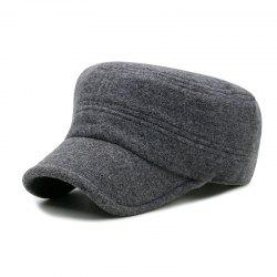 Autumn and winter fashion cover ear wool military cap outdoor leisure warm flat -