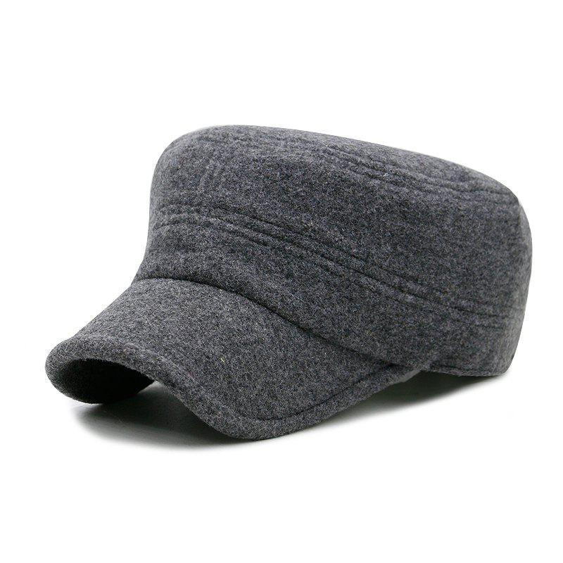 New Autumn and winter fashion cover ear wool military cap outdoor leisure warm flat