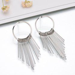 Fashion Metal Tassel Simple Vintage Geometric Round Tassel Earrings -