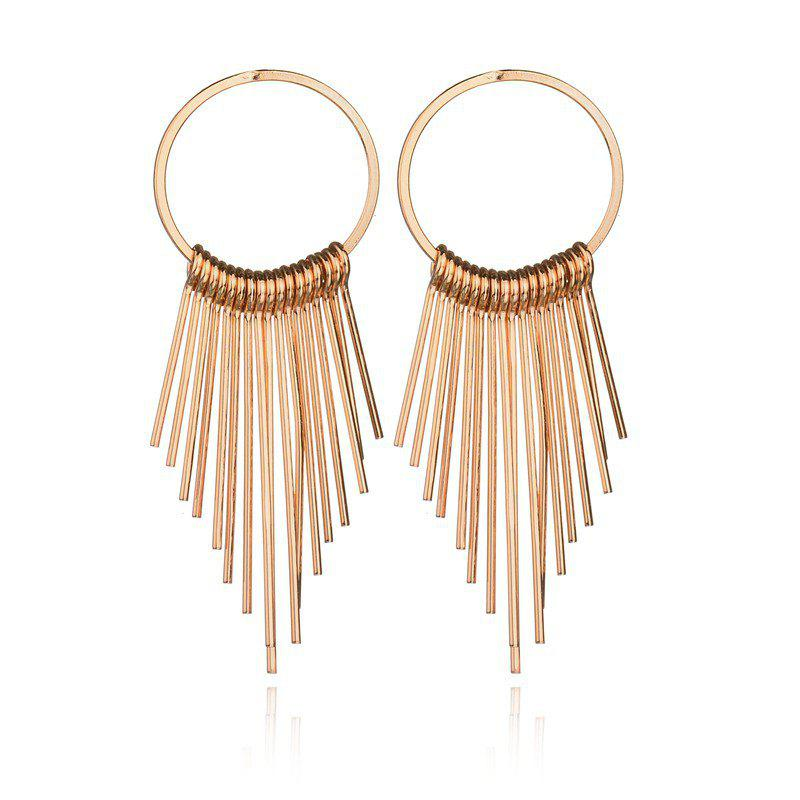 Shops Fashion Metal Tassel Simple Vintage Geometric Round Tassel Earrings