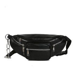 Fashion PU Ladies Messenger Bag Casual Travel Neutral Waist Bag -