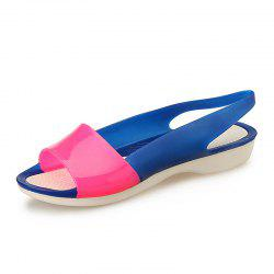 Fish Mouth Shoe Slope And Jelly Color Female Sandals -
