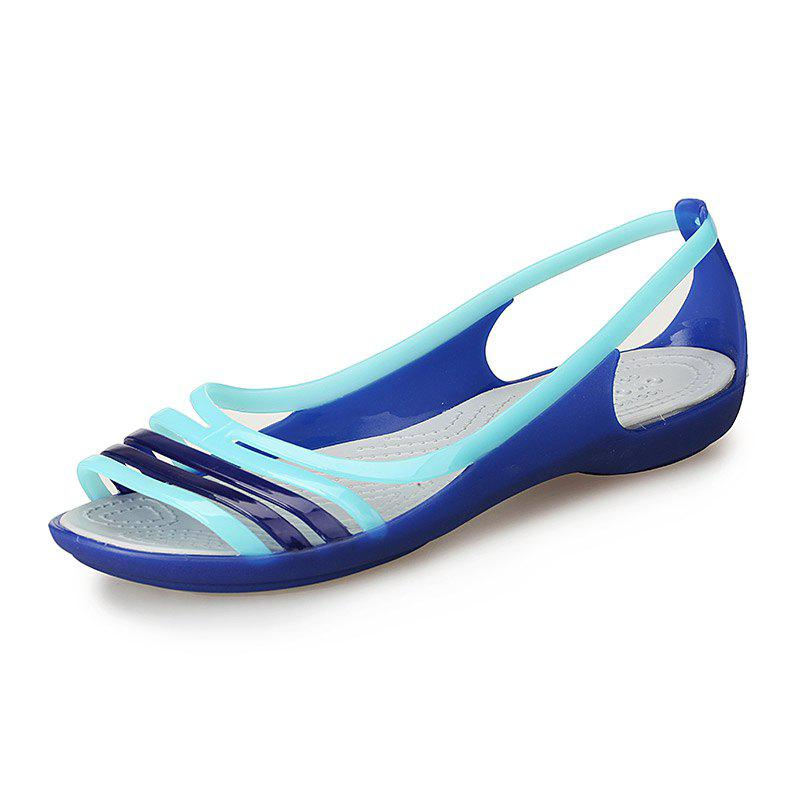 Chic Flat Bottom Sandals Ladies Fish Mouth Sandals Sand Shoes