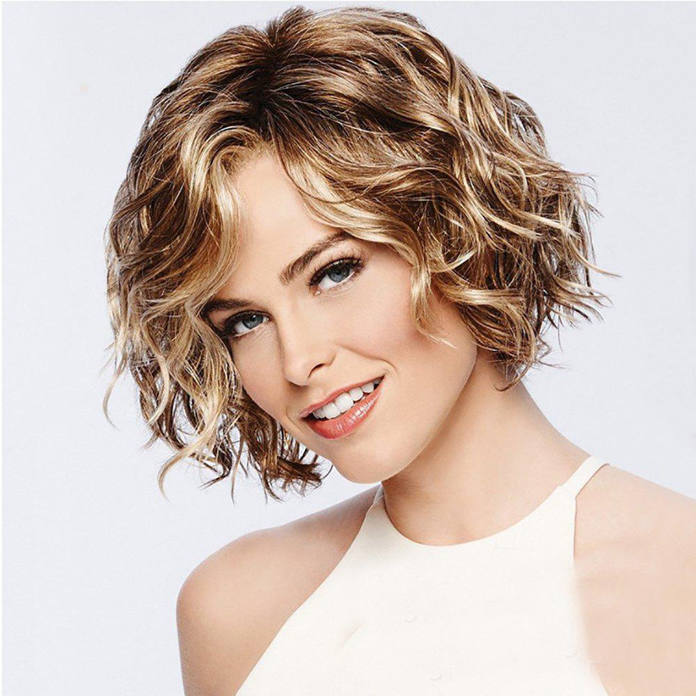New Stylish Vitality Lady Fluffy Short Curly Hair High Temperature Wig