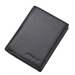 Cow Leather Men Wallets Vintage Male Purse Function Genuine Leather Card Holders -