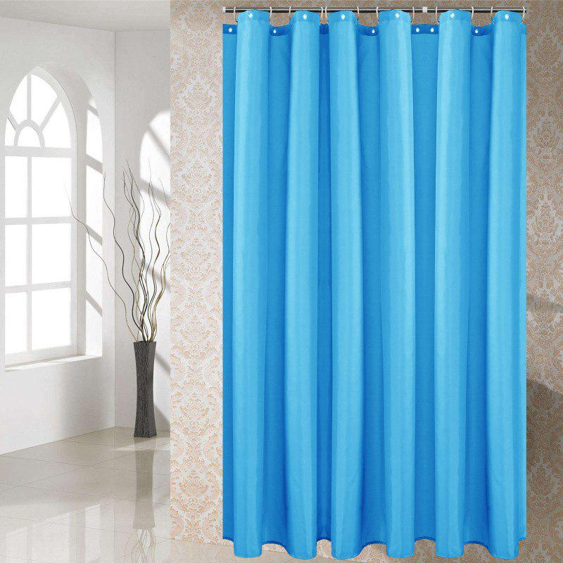 New Solid Color Shower Curtain Waterproof Bathroom Partition