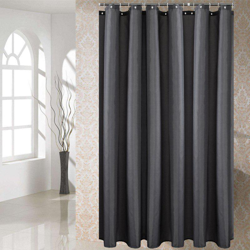 Affordable Solid Color Shower Curtain Waterproof Bathroom Partition