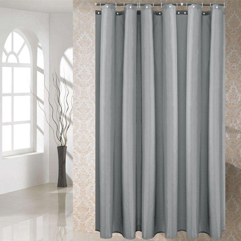 Fashion Solid Color Shower Curtain Waterproof Bathroom Partition