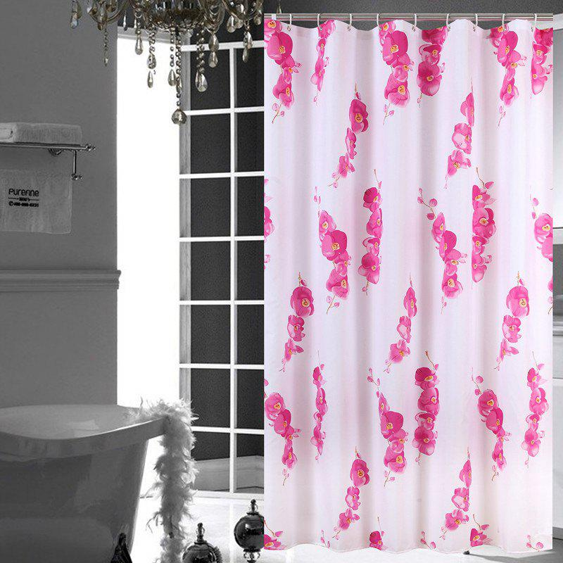 Outfit Waterproof Polyester Wax Plum Bathroom Partition Shower Curtain