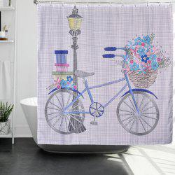 Happy Bicycle Printing Polyester Waterproof Bathroom Curtain Mold -
