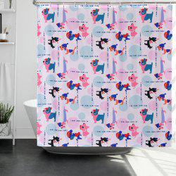 Puppy Polyester Environmentally Friendly Waterproof Shower Curtain -