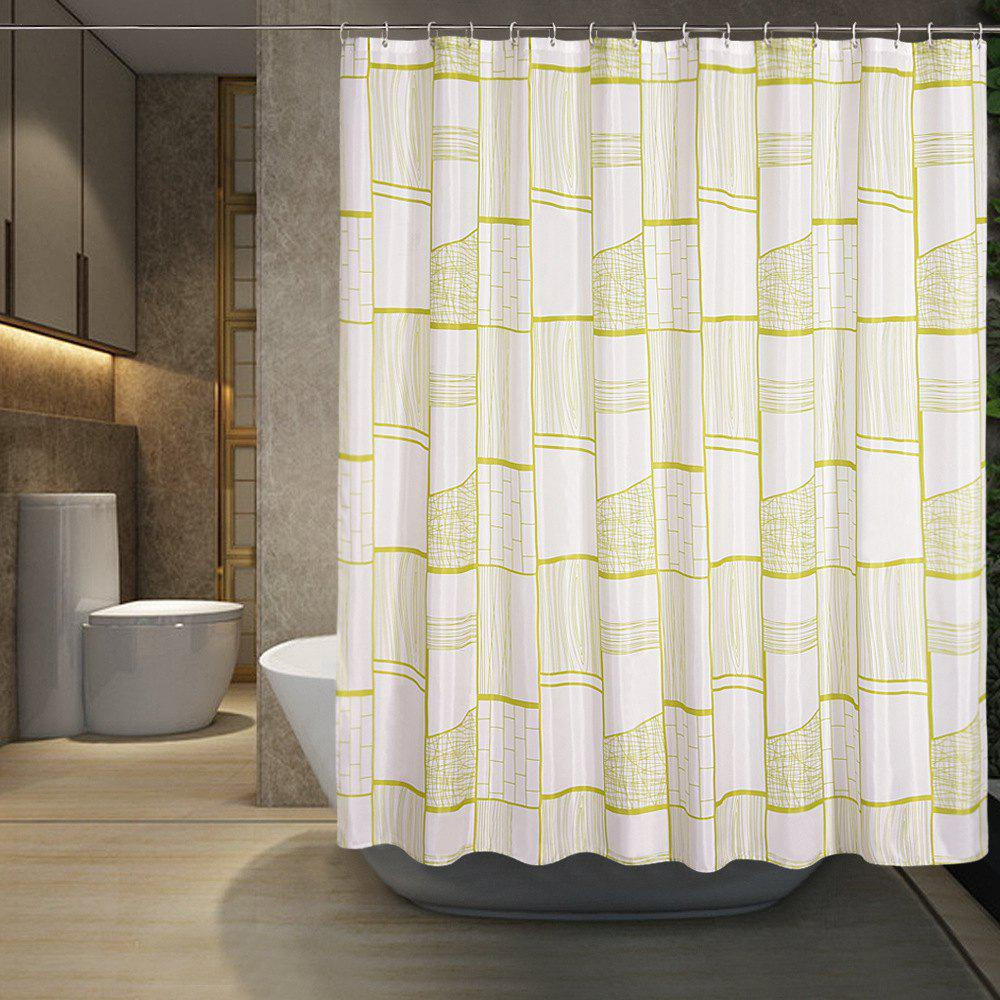Hot Gongge Bathroom Waterproof Thick Polyester Shower Curtain Printing