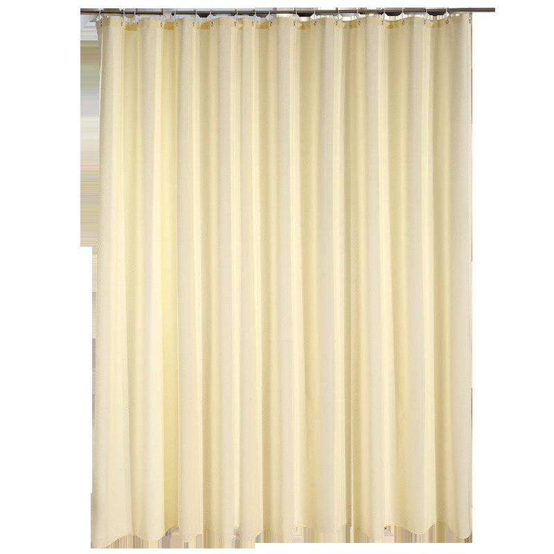 Hot Jacquard Cloth Shower Curtain Beige Thick Waterproof And Mildew