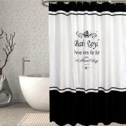 Waterproof Polyester Polyester Crown Shower Curtain -