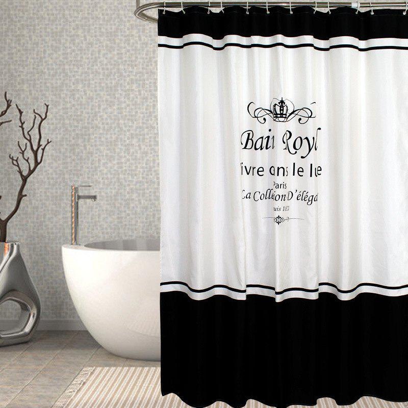 Online Waterproof Polyester Polyester Crown Shower Curtain