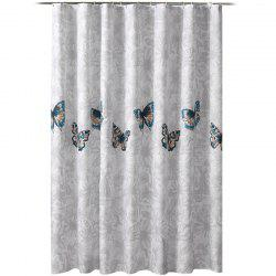 Pansy Thick Waterproof and Mildewproof Polyester Shower Curtain -