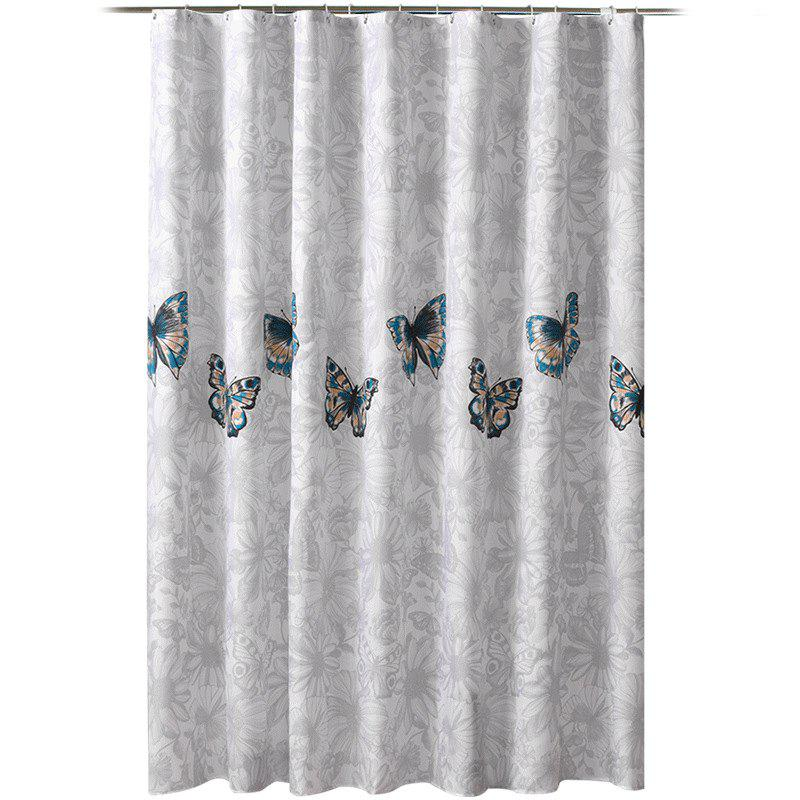 Cheap Pansy Thick Waterproof and Mildewproof Polyester Shower Curtain