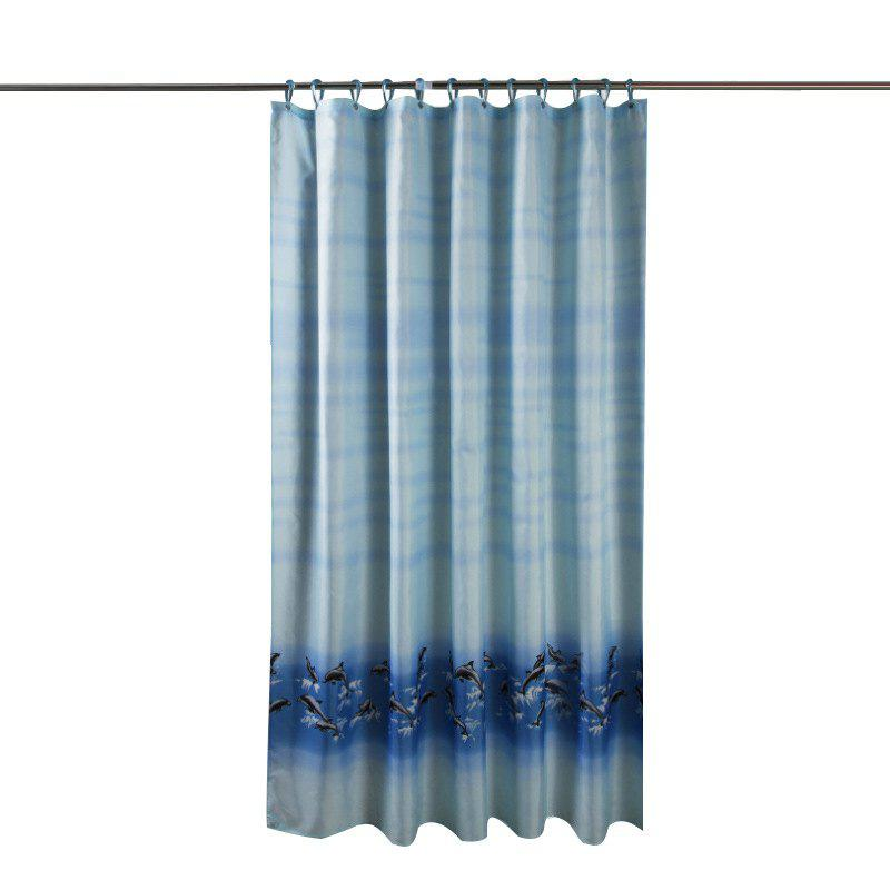 Affordable Dolphin Thick Waterproof and Mildew Thick Polyester Cloth Shower Curtain
