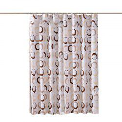 Thick Waterproof and Mildewproof Polyester Shower Curtain -
