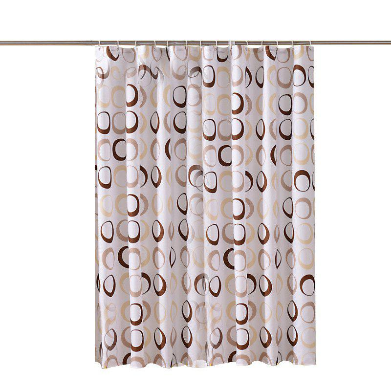 Affordable Thick Waterproof and Mildewproof Polyester Shower Curtain