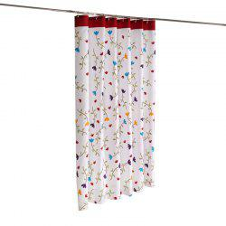 Floral Print Thicken Waterproof Polyester Fabric Shower Curtain -