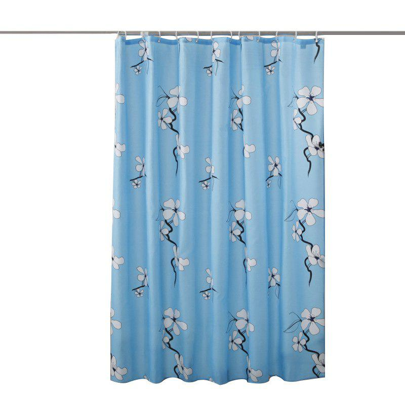 Online Lame Printed Polyester Fabric Plain Waterproof Shower Curtain