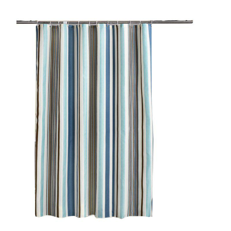 Online Romantic Striped Home Mildew Polyester Shower Curtain
